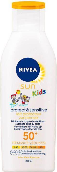 Nivea Kids Protect & Sensitive Lotion SPF50+ - 200 ml online kopen